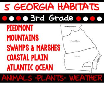 3rd Science Georgia Habitats Bundle: Piedmont, Mountains,