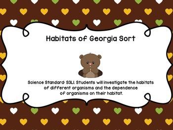 Georgia Habitats Sort