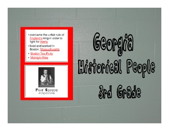 Georgia 3rd Grade Historical People Wall Cards
