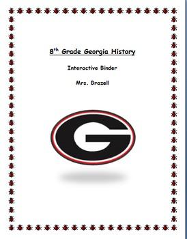Georgia History Binder Labels