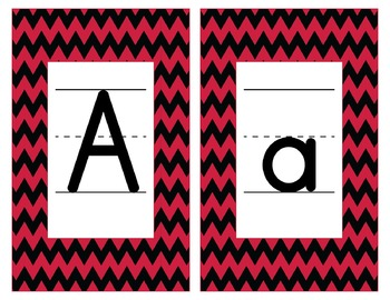 Georgia Inspired Red and Black Alphabet & Number Cards for