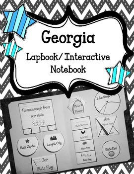 Georgia Lapbook/Interactive Notebook.  US State History. G