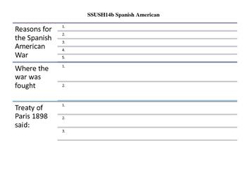 Georgia Milestones US History SSUSH14 Interactive Notebook