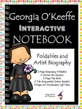 Georgia O'Keeffe Interactive Notebook Foldables - FREE Gif