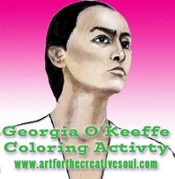 Georgia O'Keeffe Coloring Activity