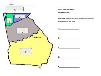 Georgia Rivers and Regions quiz