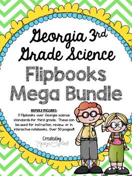 Georgia Science 3rd Grade Flipbooks BUNDLE (Interactive No