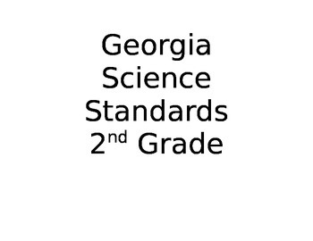 Georgia Science Standards