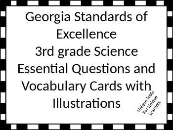 Georgia Standards of Excellence 3rd grade Science Essentia
