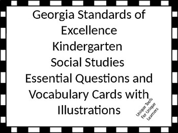 Georgia Standards of Excellence Essential Questions Kinder