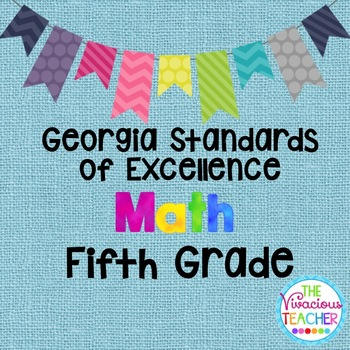 Georgia Standards of Excellence Posters Fifth Grade Math
