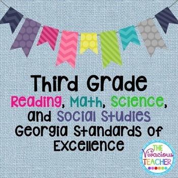 Georgia Standards of Excellence Posters Third Grade Readin