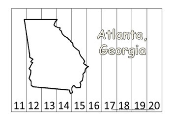 Georgia State Capitol Number Sequence Puzzle 11-20.  Geogr