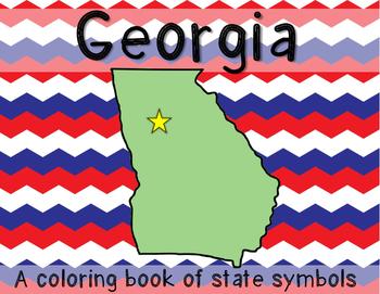 Georgia State Symbols Coloring Book