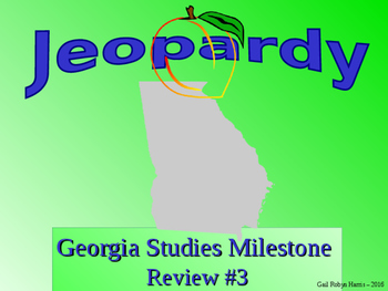 Georgia Studies: Georgia Milestone Jeopardy Review Game #3