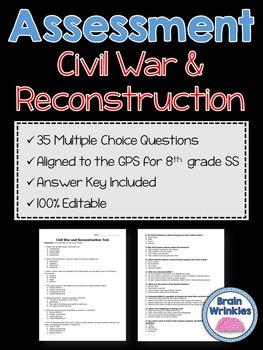 Georgia Studies: Civil War and Reconstruction Assessment (