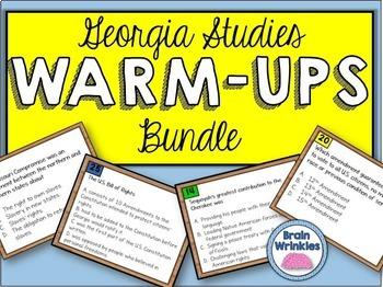 Georgia Studies Warm Ups Bundle