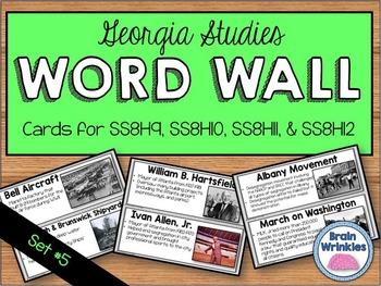 Georgia Studies Word Wall: Set 5
