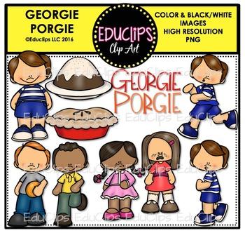 Georgie Porgie Nursery Rhyme Clip Art Bundle