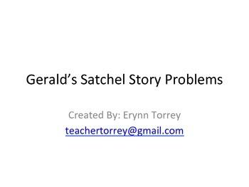 Gerald's Satchel Story Problems (Grade 1)