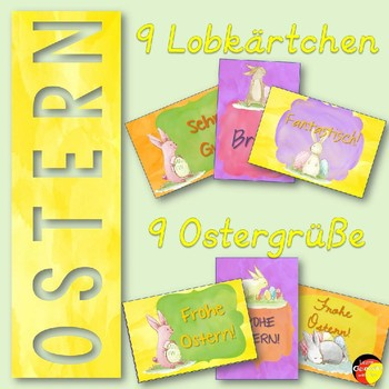 German Brag Tags- Deutsche Lobkärtchen- Ostern