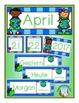 German Calendar Pocket Chart Bundle for Spring