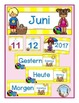 German Calendar Set for June (for pocket chart calendars)