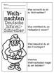 German Christmas Quick Writes- Deutsche Übungen zum schrei