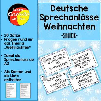 German Christmas Smalltalk- Deutsche Sprechanlässe zum The