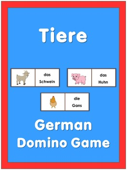 German Domino Game Tiere