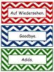 German-English-Spanish Words for Walls