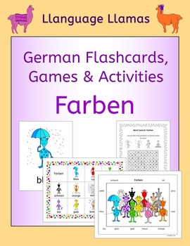 German Colors - Farben - flashcards, games and activities