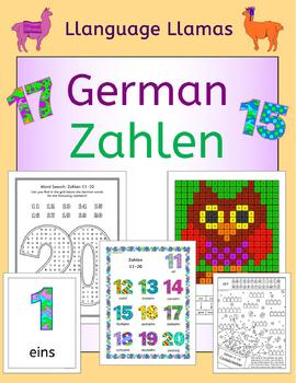 German Numbers - Zahlen - Flashcards, games and activities