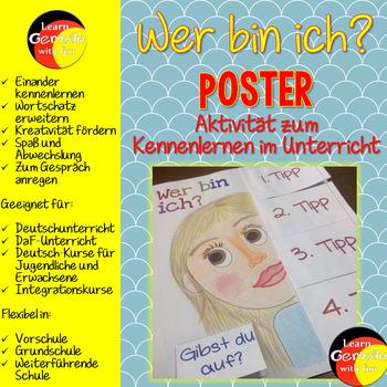 German Get To Know Activity- Wer bin ich? Poster- Kennenle