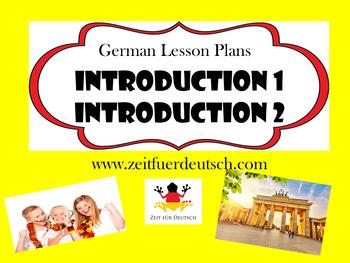 First 2 German Lessons. German Introduction Bundle. Powerp