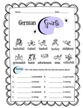 German Numbers 1-10 Worksheet Packet