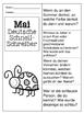 German Quick Writes- Deutsche Übungen zum schreiben üben- Mai