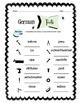 German Tools Worksheet Packet