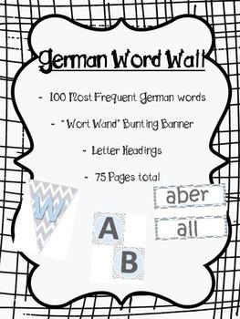 German Word Wall