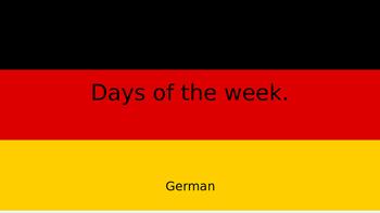 German days of the week (English to German)