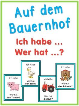 German Farm  Ich habe ... Wer hat ...? game