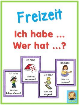 German free time activities  Ich habe ... Wer hat ...? game
