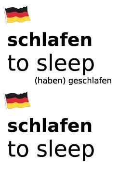 German useful verbs to display