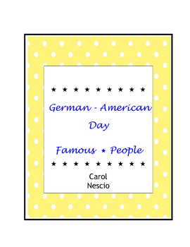 German * American Day Famous People