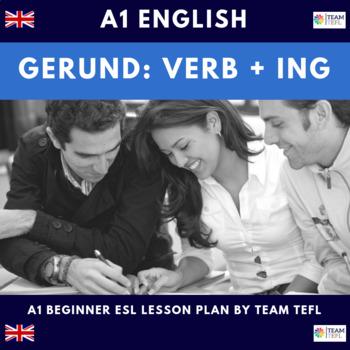 Gerund Verb+ing A1 Beginner Lesson Plan For ESL