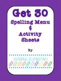 Get 30 Menu and Activity Printables