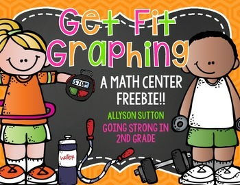 Get Fit Graphing Math Center Freebie!