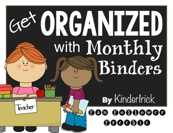 Get Organized with Monthly Binders- Freebie