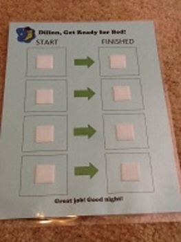 Get Ready For Bed Picture Schedule (1 board and 12 symbols)