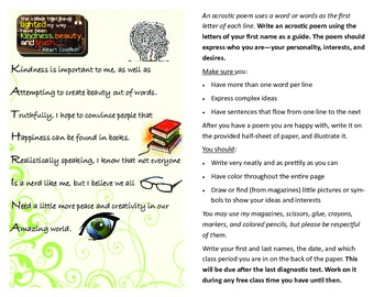 Get To Know You Acrostic Poem